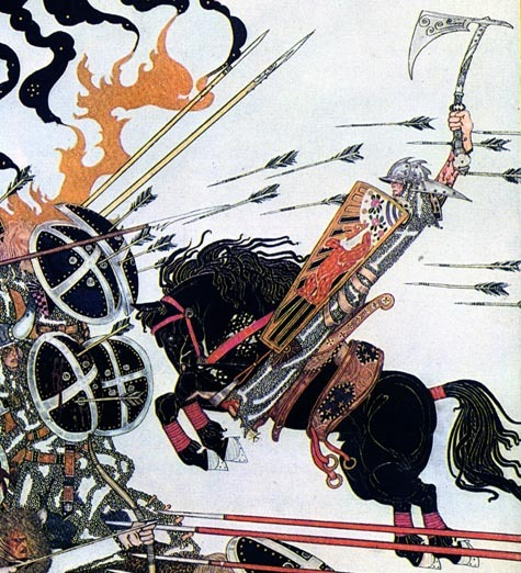 Kay_nielsen_knight_hitting_shield_2