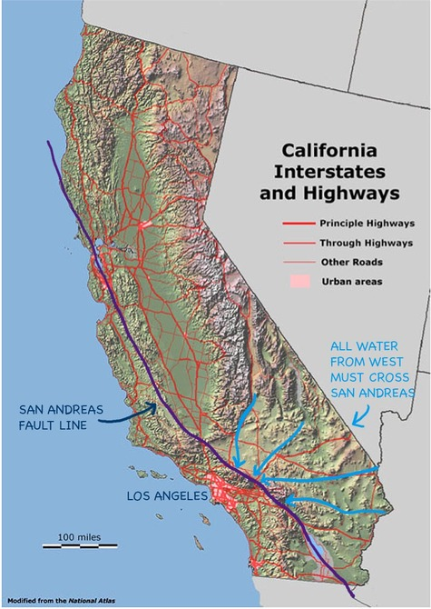 San_andreas_and_highways_and_water