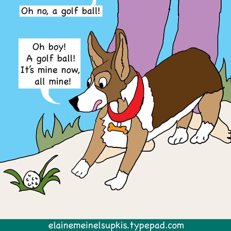 Arthur_finds_a_golf_ball