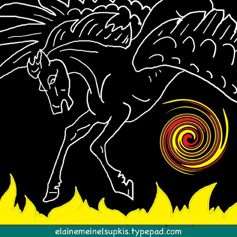 Pegasus_and_fire